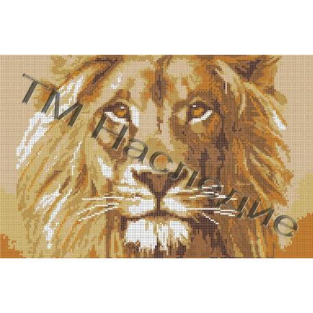 Царь зверей, набор для вышивания бисером 38х26см Наследие