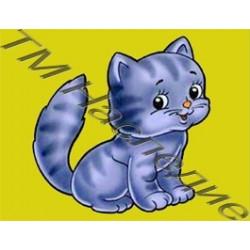 Котенок, набор для изготовления мозаики круглыми стразами 10,5х14,5см 5цв. полная выкладка