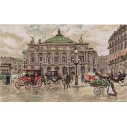 Париж.Гранд Опера, набор для вышивания крестиком, 40х25см, 31цвет Panna