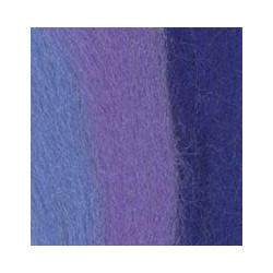 Сирень/лесной колокольчик/василёк, шерсть для валяния, 100% мериносовая шерсть 50г
