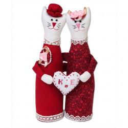 Влюбленные коты, набор для шитья. Miadolla