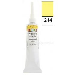 Лимонный контур по ткани акриловый 18мл Decola