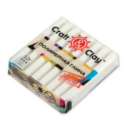 Белый, полимерная глина, 52гр. Craft&Clay