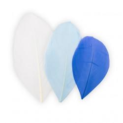 Синий/белый, декоративные перья 5-6см 3гр±0,5гр, Mr. Painter