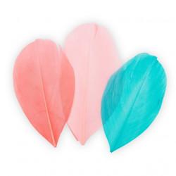 Коралловый/бирюзовый, декоративные перья 5-6см 3гр±0,5гр, Mr. Painter