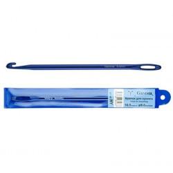 Синий, крючок для нукинга металл d6мм 16,5см, GAMMA