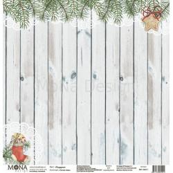 Подарки из коллекции Теплая зима, лист односторонней бумаги 30х30см, 190гр/м MoNa design