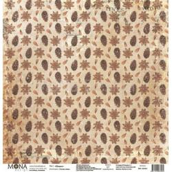Шишки из коллекции Теплая зима, лист односторонней бумаги 30х30см, 190гр/м MoNa design