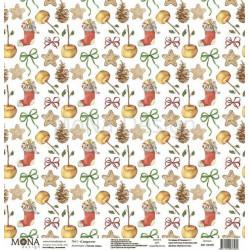 Сладости из коллекции Теплая зима, лист односторонней бумаги 30х30см, 190гр/м MoNa design