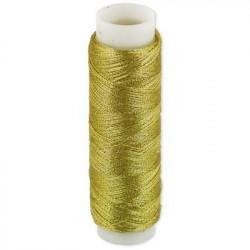 Под золото, нитки металлизированные 100% полиэстер 109 я  100 м Gamma