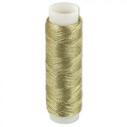 Под св. золото, нитки металлизированные 100% полиэстер 109 я  100 м Gamma
