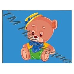 Медвежонок, набор для изготовления мозаики круглыми стразами 10,5х14,5см7 цв. полная выкладка