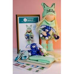 Кики, набор для шитья куклы 35см. Pugovka Doll
