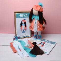 Дина, набор для шитья куклы 35см. Pugovka Doll