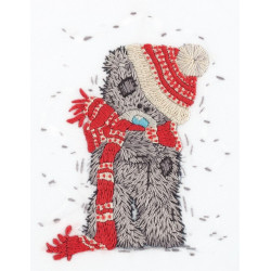 Зимний Tatty Teddy, набор для вышивания гладью, 13,5х17см, 7цветов Panna