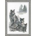 Волки, набор для вышивания крестиком, 40х60см, мулине хлопок Anchor 14цветов Риолис
