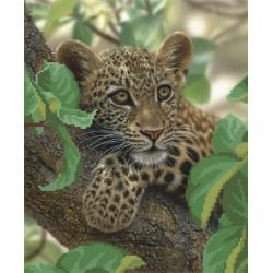 Леопард на дереве, канва для вышивки бисером МП-студия
