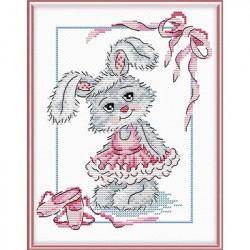 Балерина, набор для вышивания крестиком 18х15см, 8цветов Жар-птица