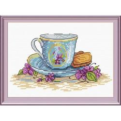 Печенье к завтраку, набор для вышивания крестиком 15х18см, 18цветов Жар-птица