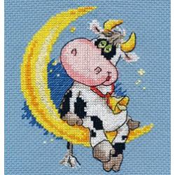Сладких снов, набор для вышивания крестиком, 10х13см, 13цветов Алиса