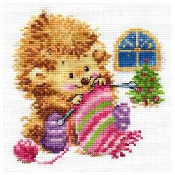 А кому вяжу-не скажу!, набор для вышивания крестиком, 13х13см, 20цветов Алиса