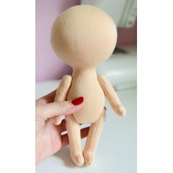 Заготовка для куклы 26 см (цвет Белый Ангел)