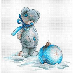 Новогодний шар, набор для вышивания крестиком, 15х158см 14цветов. МП-студия