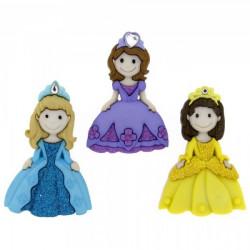 Прекрасные принцессы, набор пуговиц 3шт. Dress It Up