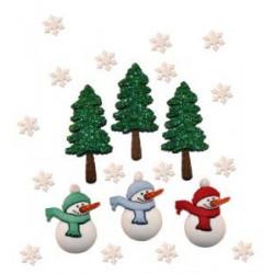 Рождественские праздники, набор пуговиц 6шт. Dress It Up