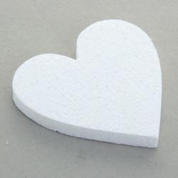 Сердце плоское 12х3см. Форма из пенопласта