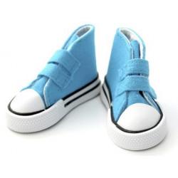 Кеды бирюзовые на липучке, длина стопы 7,5см высота 4,5см. Кукольная обувь