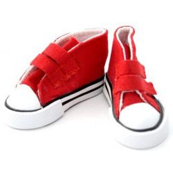 Кеды красные, длина стопы 7,5см высота 4,5см. Кукольная обувь