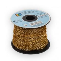 Под золото, цепочка декоративная 6.2x3.6мм 1м алюминий Micron
