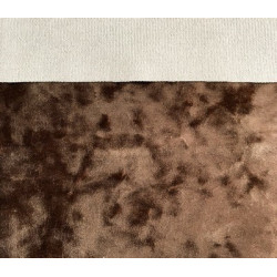 Коричневый, винтажный плюш М-4011 100%полиэстер 50х50(±1см)