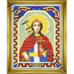 Екатерина, набор для изготовления иконы круглыми стразами 10,5х14,5см 11цв. частичная выкладка