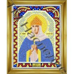 Ольга, набор для изготовления иконы круглыми стразами 10,5х14,5см 10цв. частичная выкладка