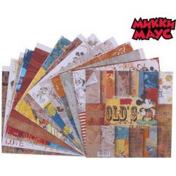 Old`s Cool М.Маус, набор двусторонней бумаги для скрапбукинга 29,5*29,5см 12листов 160г/м АртУзор