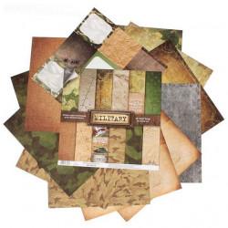 Military, набор двусторонней бумаги для скрапбукинга 30,5*30,5см 12листов 180г/м АртУзор