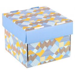 Яркие краски, коробка складная 15х15х12см гофрокартон АртУзор