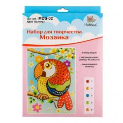 Попугай, мозаика 19.5x26.5см 5 видов элементов, 3+ Hobbius
