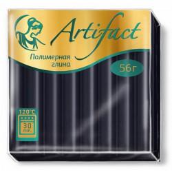 Черный, полимерная глина запекаемая 56гр Artifact