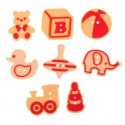 Любимые игрушки, набор резиновых пуговиц 8шт АртУзор