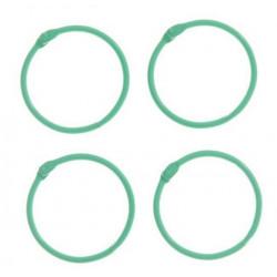 Светло-зеленый, кольца для альбомов d4,5см 4шт металл АртУзор