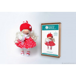 Алиса, набор для шитья куклы 30см. Pugovka Doll