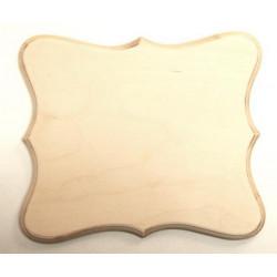 Накладка фигурная 5-02, заготовка для декорирования фанера 8мм, 19.5х17см NZ