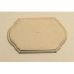 Накладка фигурная 1-01, заготовка для декорирования фанера 6мм, 10х6см NZ