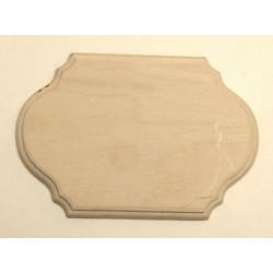 Накладка фигурная 1-03, заготовка для декорирования фанера 6мм, 16х11см NZ