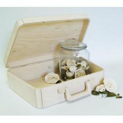 Саквояж средний с ручкой и магнитным замком, заготовка для декорирования фанера 8-3мм 31х22х9,5см NZ