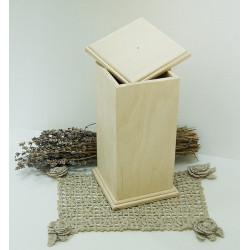 Короб Неаполь высокий, заготовка для декорирования фанера 8мм 11,5х11,5х23см NZ