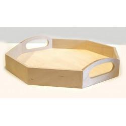 Поднос Восьмигранник малый, заготовка для декорирования фанера 10-3мм 32,5х32,5х6,5см NZ